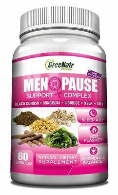 Herbal Menopause Support Complex for Hot Flashes, Night ...