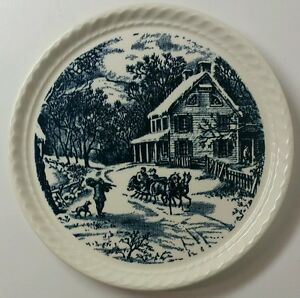 Image is loading ROYAL-CHINA-034-CURRIER-&-IVES-034-BLUE- : 7 pie plate - pezcame.com