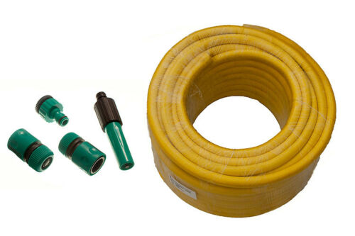 100M 12MM ID Anti Kink Garden Hosepipe /& Hozelock Compatible Fittings