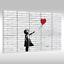 Quadro-su-Tel-Tela-via-Art-Banksy-Ragazza-con-Rosso-Palloncino-ad-Aria thumbnail 32