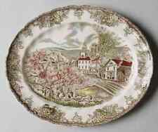 "Johnson Brothers THE FRIENDLY VILLAGE 11 3/4"" Oval Serving Platter 5917716"