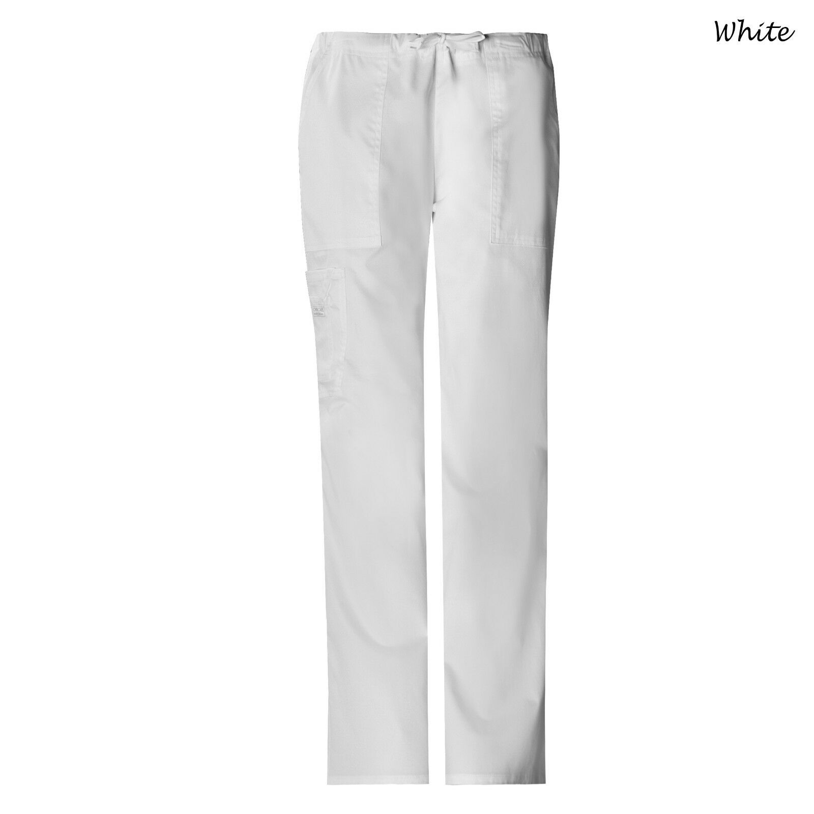 59ef93474d5 Cherokee Womens Workwear Scrubs 4044 Mid-rise Core Stretch Drawstring Cargo  Pant White XL Tall for sale online | eBay