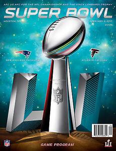 3796bf2e4 La foto se está cargando 2017-Super-Bowl-51-juego-nacional-oficial-programa-