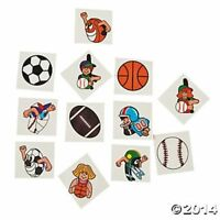 72 Character Sports Theme Temporary Tattoos Kids Boys Birthday Party Favors