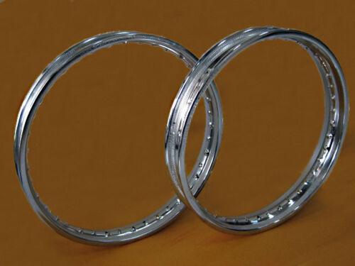 HONDA CM185T /'78-/'79 CM200T /'80-/'82 F/&R STEEL WHEEL RIM SET+TAPE RUBBER #BI1059#