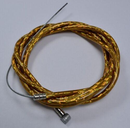 "1 HOUSING 60/"" Metallic Golden CAPS NEW BICYCLE BIKE 1 BRAKE CABLE 68/"""