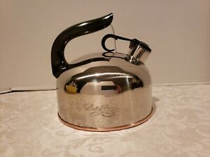REVERE-WARE-COPPER-BOTTOM-WHISTLING-TEA-KETTLE-NEARLY-NEW-CONDITION