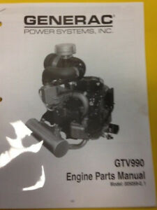 Details about DIXIE CHOPPER Generac GTV 990 Engine Parts Manual Model  005059-0,1 ( BOX19E)