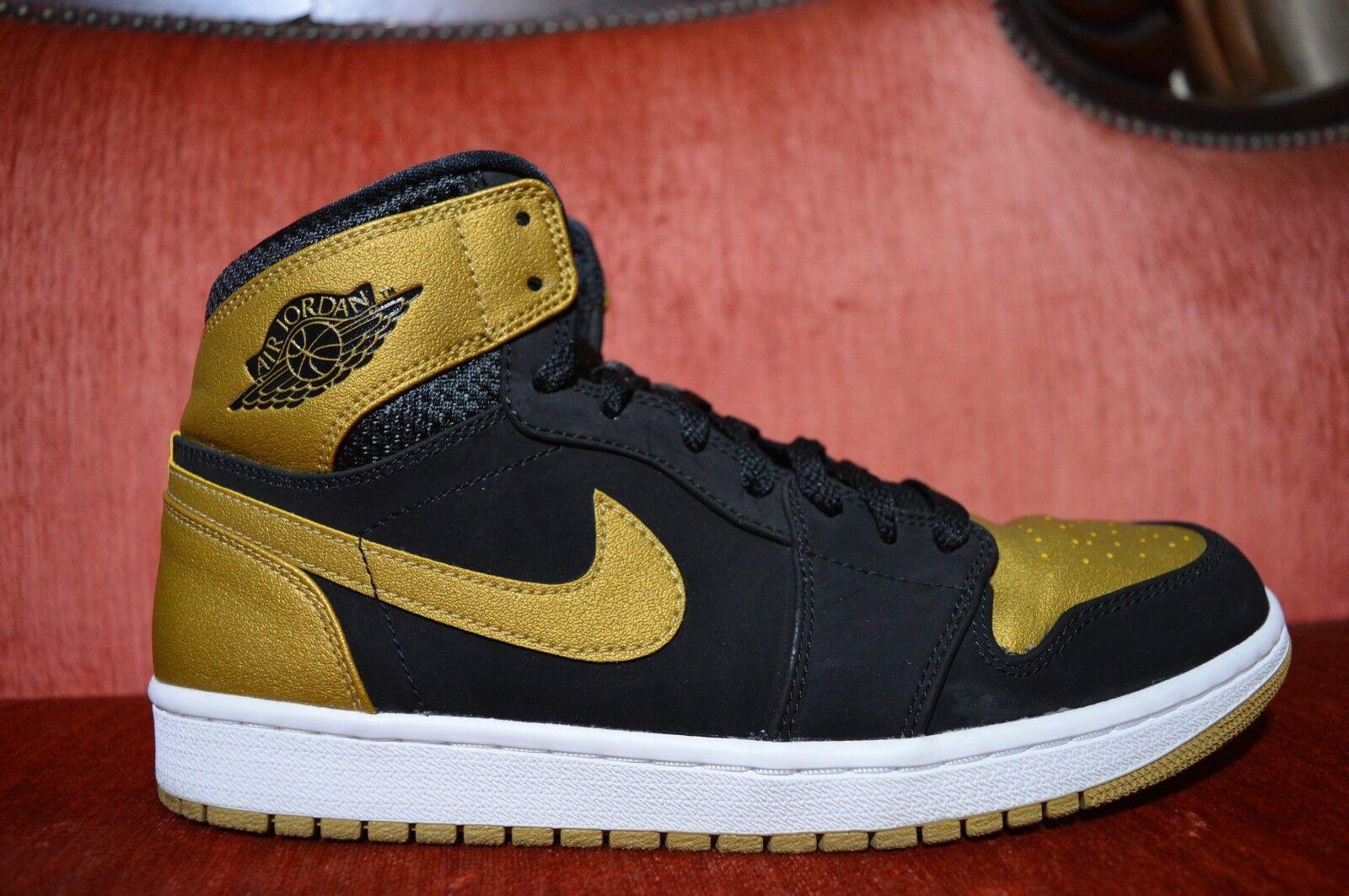 CLEAN Nike Air Jordan 1 Retro High Melo Black Gold-White Size 10 332550 026