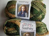 Red Heart Boutique Sashay Ruffle Mesh Yarn, Conga, Lot Of 2 (30 Yds Each)