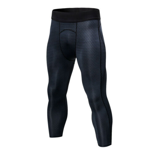 Mens Compression 3//4 Tights Running Gym Basketball Workout Dri fit Spandex Pants