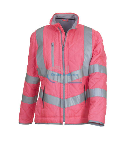 Ladies Pink Jacket Equestrian vest hi viz horse riding Reflective Kensington