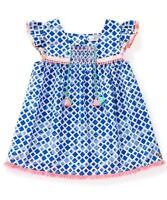 Matilda Jane Hula Hoop Top 14 Girl's Woven Boho Blue Tunic Adventure Begins
