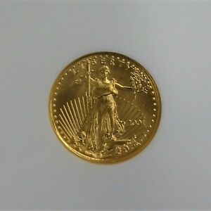 2001-1-10th-Oz-American-Gold-Eagle-5-Coin-NGC-MS69-RG35