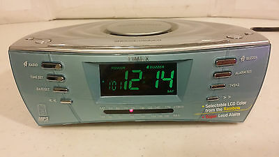 Timex Multi-directional Sound Chamber Clock Radio, LIGHT BLUE T439S MP3 AUX iPod