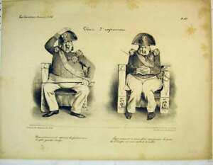 Original-Old-Antique-Print-French-Sier-Facial-Expressions-Chair