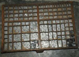 AIGRETTE 16p Bleischrift im Setzkasten Bleisatz Schrift Alphabet lead type Druck