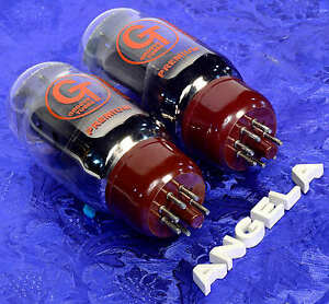 Matched-Pair-2-Groove-Tubes-GT-KT66-C-Both-34mA-Brand-New-Tested-amp-Guaranteed