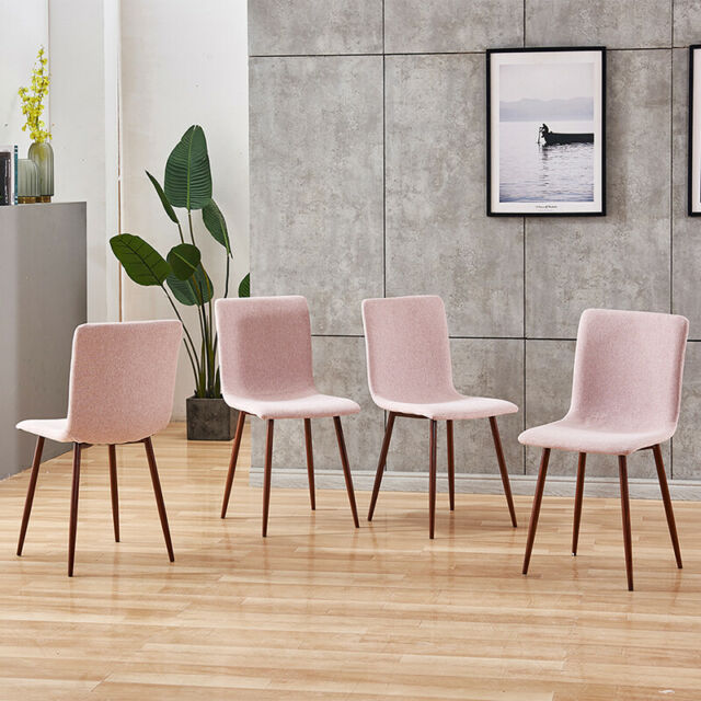 Dining Chairs Fabric Padded Seat