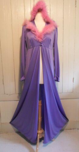 RARE 70's VINTAGE NWT NYLON Silky Robe Negligee Ni