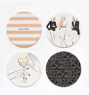 Rifle Paper Company - Cheers! - Coaster Set - Set of 8 - Garance Dore