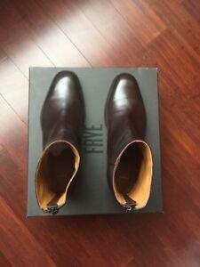 "e8f0bd078bd69 Frye Mens ""Wright"" Back Zip Boots Size 9 Dark Briwn | eBay"