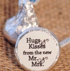 216-Hugs-amp-Kisses-from-the-new-Mr-amp-Mrs-Hershey-Kiss-Stickers ...