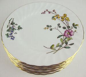 Set-9-x-Bread-Plates-Minton-Dainty-Sprays-S-511-vintage-bone-china-England