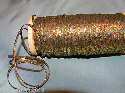 1800's Antique  Metallic Gold Tiny Trim DOLLS COSTUMES UNIFORMS By The Yard