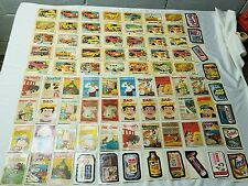 Vintage 70s Topps Wacky Chewing Gum Stickers & Wonder Bread Funny Car Cards