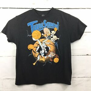 ae9ba12acb2ee1 Space Jam Movie Mens Size XL Looney Tunes Squad Black T-Shirt Bugs ...