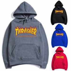 f47c28bf8c0d Image is loading Men-Women-Hoodie-Sweater-Hip-hop-Skateboard-Thrasher-