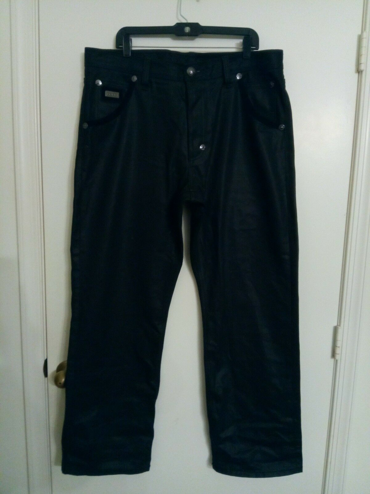 Coogi Jeans de lujo negra  para hombre 38 X 34 bolsillos Bordado Negro  marca en liquidación de venta
