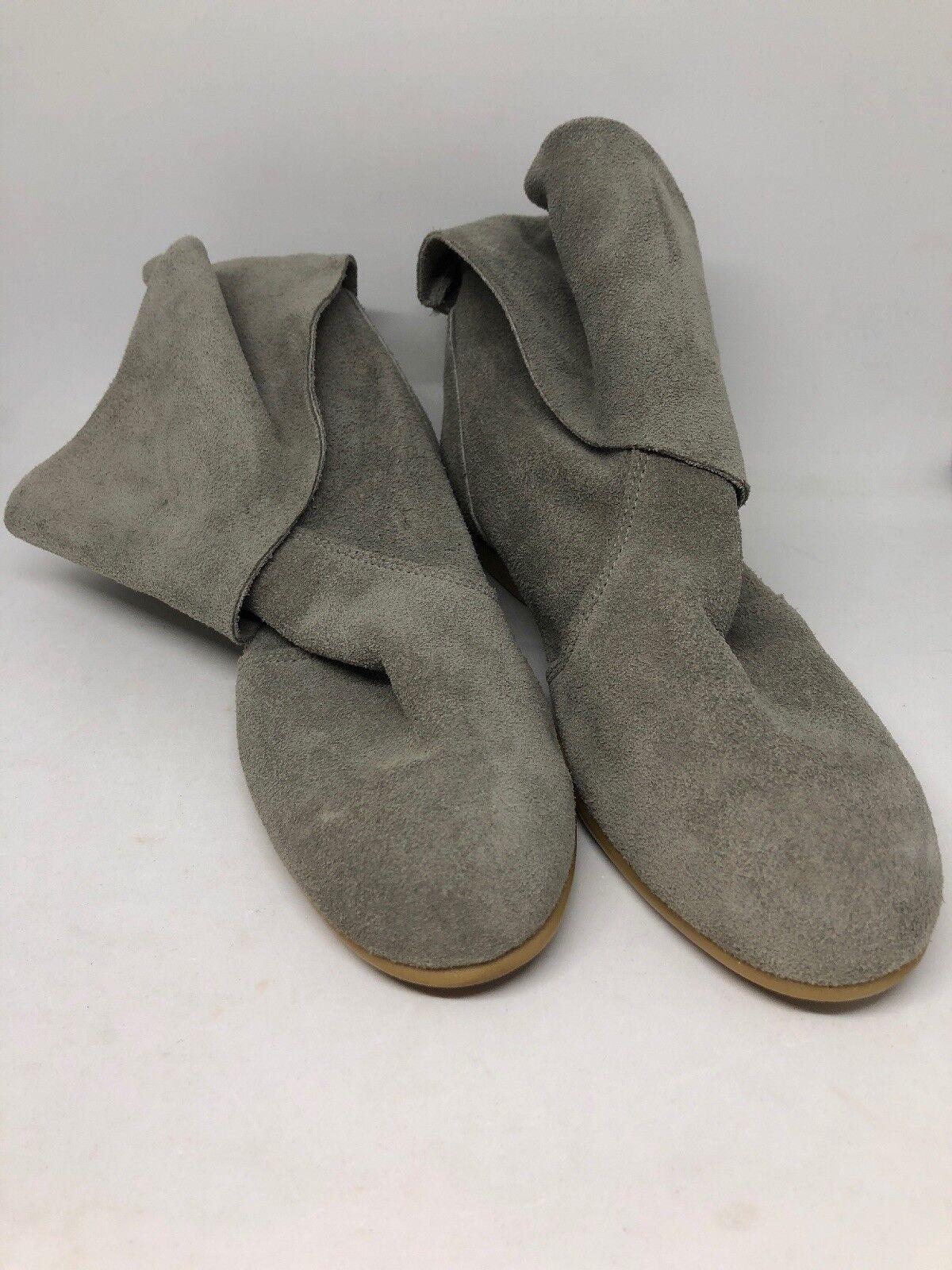 Vtg 80s grau Suede damen sz 6 B Unbranded Flat Heel Ankle Stiefel EUC -USA-