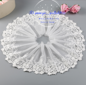 1-Yard-Embroidered-Floral-White-Tulle-Lace-Trim-Ribbon-Fabric-Sewing-Craft-FL256