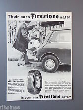 R&L Vintage Ex Magazine Advert: Firestone Tyres Austin/Morris Mini 1963