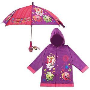 Shopkins-caracter-Impermeable-Y-Paraguas-Rainwear-Set-las-ninas-pequenas-edad-2-7