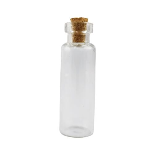 Bottle and Vials with Cork Glass Test Tube Favour Stopper Cap Mini Slim
