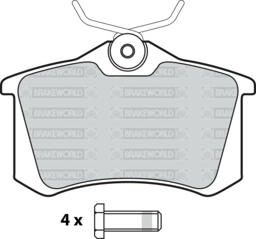 OEM SPEC FRONT AND REAR PADS FOR AUDI A4 2.0 TD 2004-08 OPT2