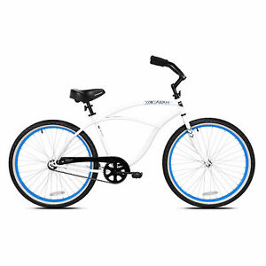 Kent-International-26-Inch-Back-Wheel-Mens-Kiawah-Cruiser-Street-Bicycle-White
