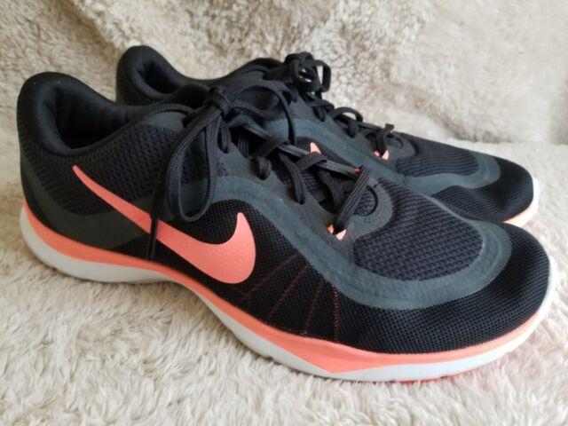 c2ce96e5ac611 Nike Flex Trainer 6 VI Black Lava Glow Women Training Shoes 831217-011 Size  11.5