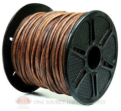 25 Yards Brown Leather Distress Cord 2.00mm Thickness Beading Bead Cords