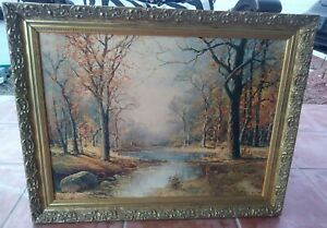 ROBERT-WOOD-SIGNED-FRAMED-OIL-PAINTING