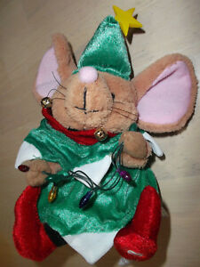 eed01a52f216d Image is loading Gemmy-Singing-Christmas-Mouse-Tree-Costume-Plush-Animated-