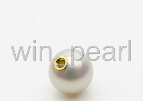 10-9.5MM White Genuine Akoya Cultured Pearl Pendant 18K Yellow Gold