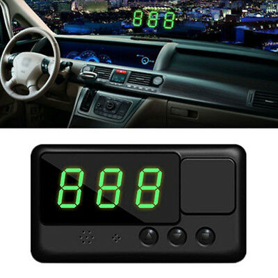 Universal GPS Speedometer Car HUD Head Up Display Overspeed Tired Warning Alarm