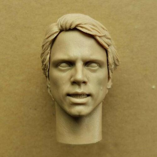 Blank 1//6 Scale Star Wars Luke Skywalker Removable Head Sculpt Unpainted B Style