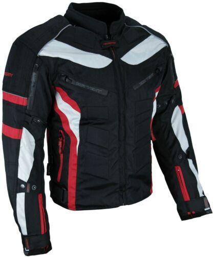 M Heyberry Textil Motorrad Jacke Motorradjacke Schwarz Rot Gr