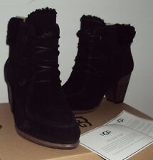 UGG Boots Analise Ankle Boot Suede Upper Sheepskin Bonus Ugg Bag Black Size 11