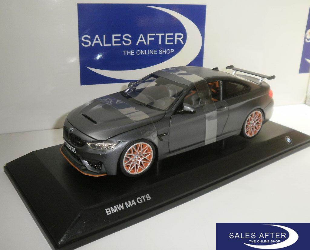 ORIGINALE miniatura BMW m4 f82 GTS Frozen Dark grigio 1:18 MODELLO DI AUTO GRIGIO OPACO